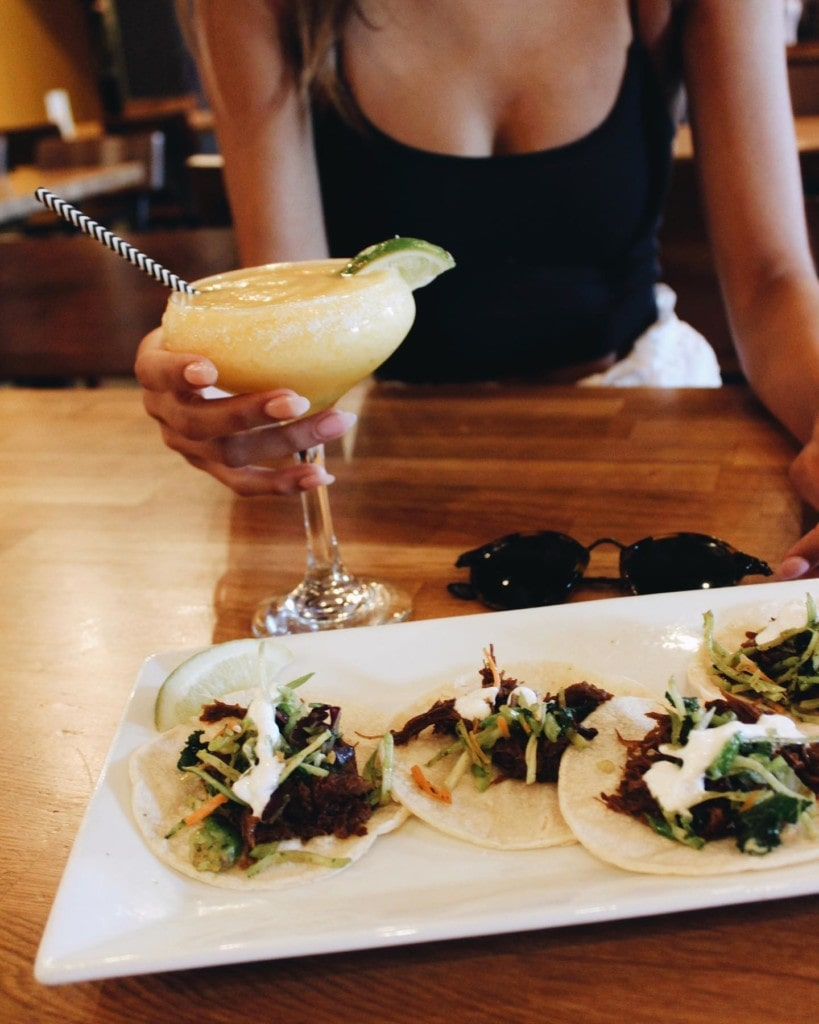 Tacos and margaritas at Snakes and Lattes Tempe